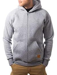 urban air   Street Classics   Zip Hoodie, Sweatjacke, Pullover-Jacke   Damen, Herren, Unisex   für Fitness und Freizeit   grau oder schwarz   S, M oder L
