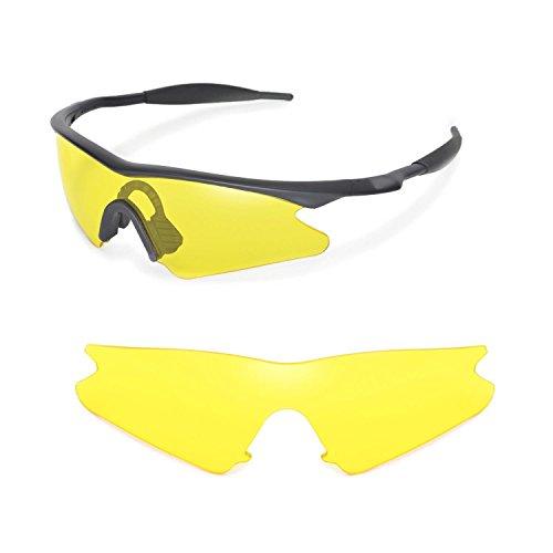 Walleva Ersatzgläser für Oakley M Frame Sweep Sonnenbrille - Mehrfache Optionen (Gelb)