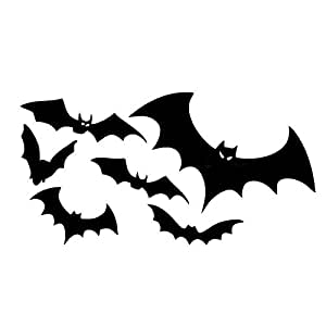 Imported Black Bat Car Decals Bike And Helmet Stickers Amazon In