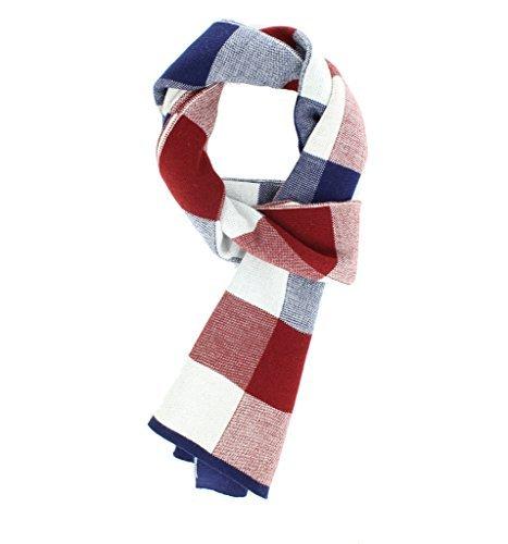 Jiao Miao Mens Winter Wrap Scarves Elegant Long Soft Wool Scarf