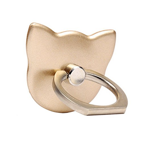 Merssavo Gold Telefon Finger Ring Halter Griff Stand Hand Katze 360 ??° rotierenden Handy Pop-up-Registerkarte (Einstellbare Registerkarte)