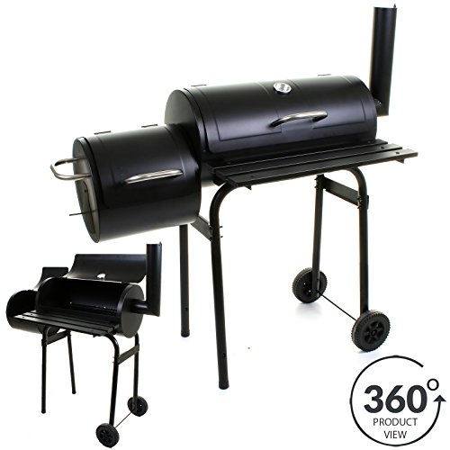 Marko Outdoor BBQ Barbecue Smoker Charcoal Grill Outdoor Cooking Black Patio Garden Party