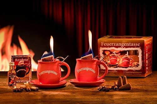 Feuerzangentasse 2er-Set rot - premium