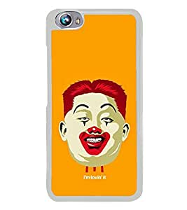 Fuson Designer Back Case Cover for Micromax Canvas Fire 4 A107 (Orange Red lipstick halloween Face Makeup Manly)