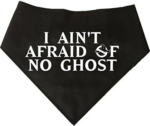 Spoilt Rotten Pets Hundehalstuch, mit Aufschrift I Ain't Afraid of No Ghost - Ghostbusters Retro 1980er Jahre Hund Halloween Kostüm (Kostüme Halloween 1980er-jahre)