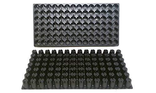PlenTree Lot de 25 Plateaux de démarrage en Plastique - Chaque Plateau Dispose de 98 cellules - Les cellules mesurent 2,5 cm de diamètre et 2,5 cm de Profondeur. Excellents Plateaux de Propagation.