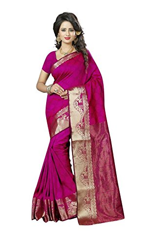 New Arrivals High Quality Women's Traditional Art Silk Saree Kanjivaram Style With...