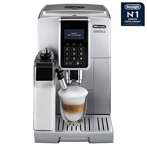 DeLonghi Dinamica ECAM 350.75.S Kaffeevollautomaten (1450 Watt), silber / schwarz