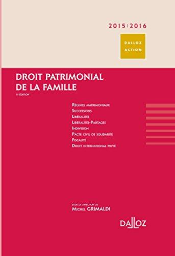 Droit Patrimonial De La Famille 2015 - 2016