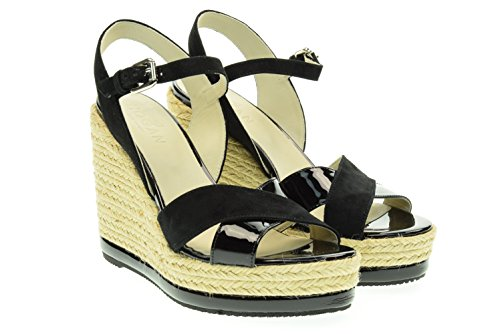 HOGAN donna sandalo con zeppa HXW2860R4602IDB999 Nero
