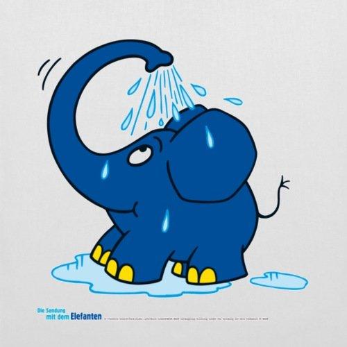 Spreadshirt Sendung Mit Dem Elefanten Kleiner Elefant Dusche Stoffbeutel Weiß