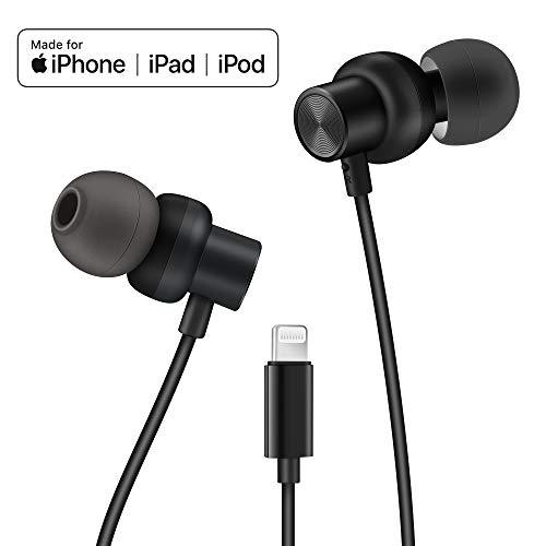 PALOVUE Earflow Plus Cuffie in-Ear Lightning Auricolare Magnetico Auricolari Certificati MFi con Microphone Controller Compatibile con iPhone X/XS(Max)/XR iPhone 8/P iPhone 7/ P (Nero Metallizzato)