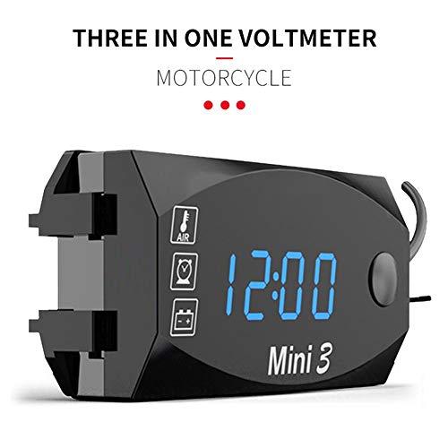 Exuberanter 3 En 1 Reloj Moto Digital Termómetro