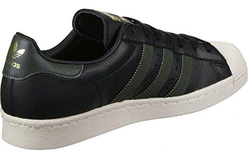 adidas Herren Superstar 80s Fitnessschuhe Schwarz Grün