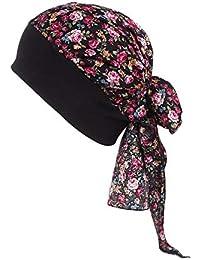 YUnnuopromi Imprimé Floral pour Femme Stretch Turban Chapeau Foulard  Bandana Hijab Chimio Capuchon 6  18123febb9e