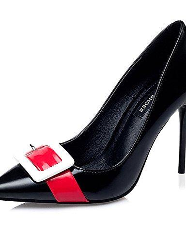 WSS 2016 Chaussures Femme-Décontracté-Noir / Rouge / Blanc-Gros Talon-Talons-Talons-Laine synthétique white-us5.5 / eu36 / uk3.5 / cn35