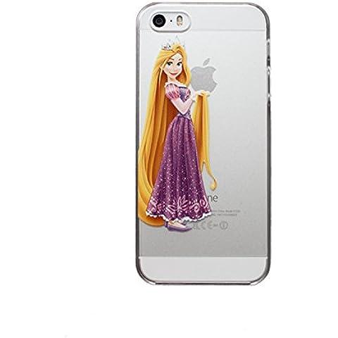 Nueva princesas Disney TPU transparente suave para Apple Iphone 4/4S 5/5S 5C 6/6S y 6+/6+ S * Comprobar oferta especial *, plástico, Rapunzel, Apple iPhone