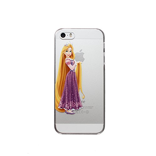 New Disney Prinzessinnen transparent TPU Soft Case für Apple iPhone 4/4S 5/5S 5 C 6/6S & 6 + 6 + S * Check Sonderangebot * RAPUNZEL