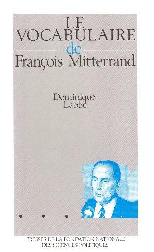 Le vocabulaire de François Mitterrand
