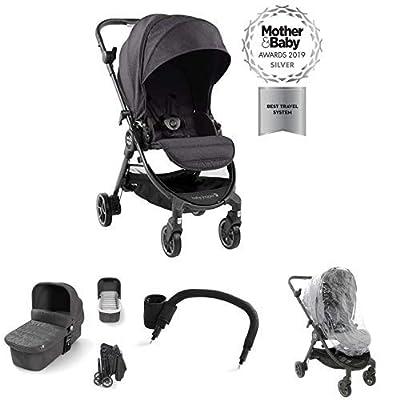 Baby Jogger Tour Lux Travel System Bundle, Granite/Slate