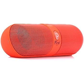 PTron Streak Bluetooth Speaker 3W Wireless Mini Speaker Portable Pill BT Speaker with Mic (Red)