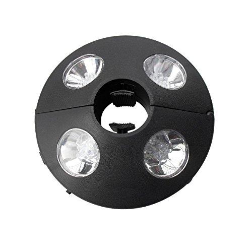 Sonnenschirm Licht - 24 LED-Leuchten mit 72 Lumen einstellbar, damit sie eng um Ihre Sonnenschirmhalterung passen - Coole weiße Farbe - Hergestellt aus robustem ABS-Material