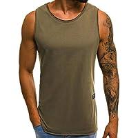 Gusspower Camisetas Camiseta para Hombre, Sudadera con Capucha de Color Liso y Sudadera sin Manga con Cremallera y Bolsillo de los Hombres