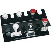 Wedo 06401201 Porte-tampons 12 tampons/classement double Noir