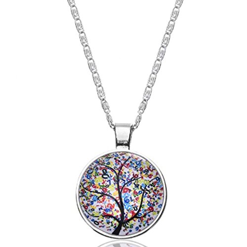 mese-london-tree-of-life-necklace-silver-plated-cabochon-glass-dome-pendant-elegant-gift-box