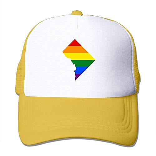 Voxpkrs Washington, D. C. Karte Gay Unisex Einstellbare Hysteresenhüte Hip Hop Caps | Baseballkappe Netzrücken ()
