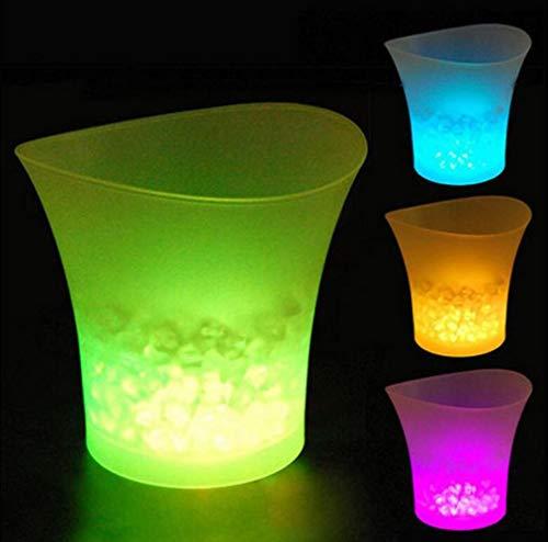 Eiskübel Eiskühler Eis Eimer Sektkühler Farbwechsel LED Eiskübel, LED Kühler Eimer Bierfass Champagner Eimer AA Batterien Led-leuchten Lebensmittelqualität Eimer Kunststoff Bierkühler Biereimer Für KT