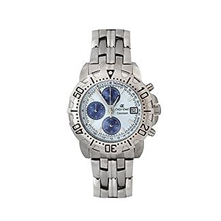 Oskar Emil caseium 119G S/S White/Blue – Reloj, Correa de Acero Inoxidable Color Plateado