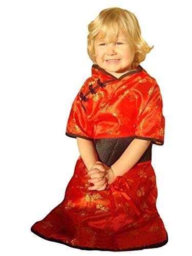 12 2-4J Kimono China Kostüm für Mädchen Fasching Karneval Karnevalskostüm, für Kinder, Jungen, Mädchen, für Fasching Karneval Fasnacht, auch als Geschenk zum Geburtstag oder Weihnachten (Besten Freund Paar Kostüm Ideen)