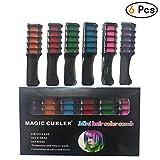 Lefu 6Pcs Hair Chalk Comb Helle Temporäre Metallic CreamDyeing für Mädchen Alle Haare Dauerhaft