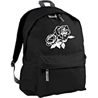 HippoWarehouse rose tattoo backpack ruck sack Dimensions: 31 x 42 x 21 cm Capacity: 18 litres