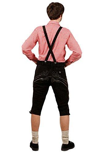 Kniebund Trachten Lederhose, super Passform, versch. Farben, 100% Echtleder, Hellbraun 46 - 3