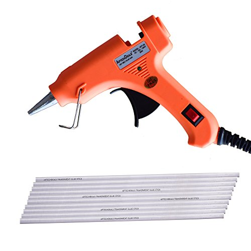ApTechDeals 20w Mini Glue Gun with 10 glue sticks / 20 Watt Hot Melt Electronic Glue Gun with Glue Sticks High Tech Heating Technology, For Art Craft/DIY/Woods/Paper/Cloth/Science Projects/School Projects (20WGS10)  available at amazon for Rs.299