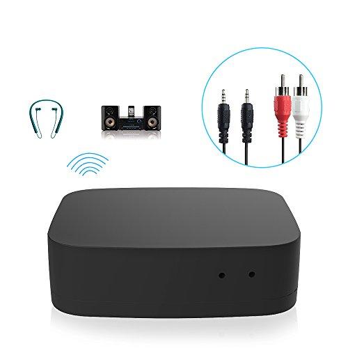 Bluetooth Adapter, M.Way Transmitter und Empfänger Bluetooth 4.0, digitales optisches Audiokabel, geringe Verzögerung, Cinchstecker, zwei Verbindungen, 3,5 mm AUX und RCA Kabel für TV, HiFi Anlage