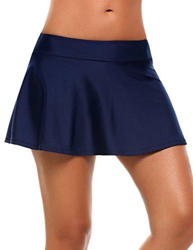 Avidlove Strand Rock mit Integrierter Hose Damen Bikinihosen Niedrige  Taille Rüschen Kombinierbar Bikini Rock Mini Bottom Mit Short Schwimmshorts  Stil ...