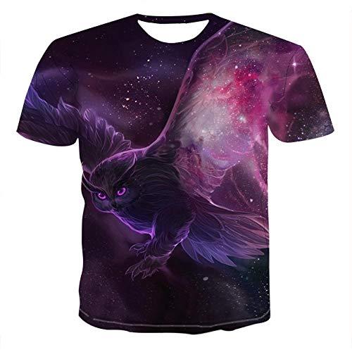 Star source Owl 3DT Shirt Tier T-Shirt 3D Männer T-Shirt Männer Casual Fitness T-Shirt @ M_Lucky -