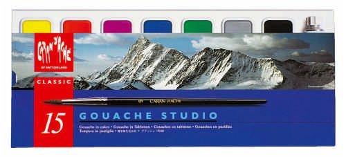 Caran D'Ache Pintura Gouache clásico - 15 Set