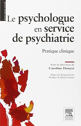 Le psychologue en service de psychiatrie par Caroline Doucet