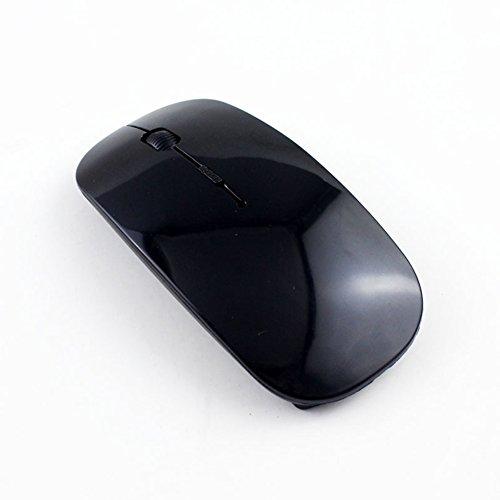 Wireless Maus Super-Slim gezichta Optische PC Computer schnurlose Maus, mit Empfänger, 800dpi für Laptop/1200DPI, USB, 2.4G Maus Home & Office für Windows Mac Linux Vista MacBook–Super-Savin Free Size Schwarz