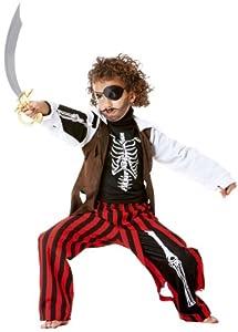 Cesar B371-004 - Disfraz de pirata esqueleto para nio, talla 140