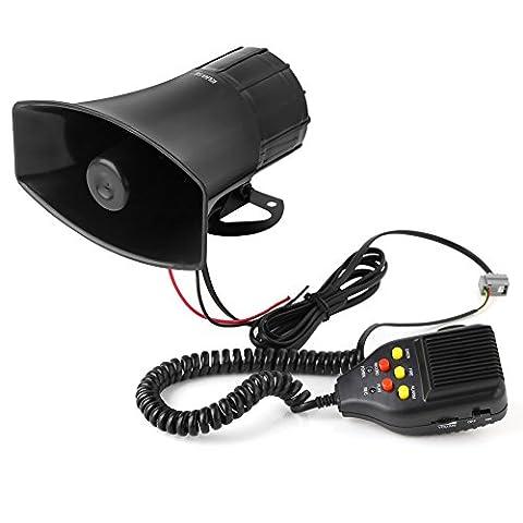 Rupse Klaxon Sirène 12V 3 Tons Corne Alarme Haut-parleur Pour Voiture Moto Van Camion Système PA Speaker Amplificateur Urgence Sonore