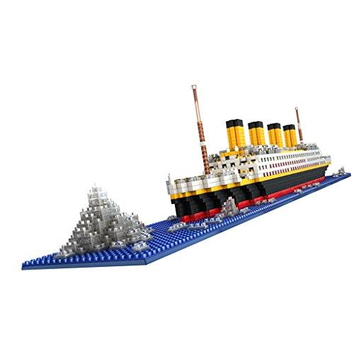 1860pcs Juguete Modelo de Bloque Gran Titanic Building Blocks Envío Asamblea Niños