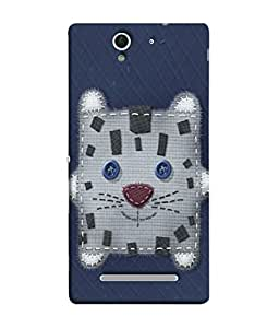 Fuson Designer Back Case Cover for Sony Xperia C3 Dual :: Sony Xperia C3 Dual D2502 (Stitched Pocket Design Patch Work)