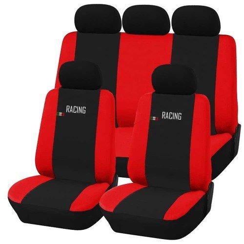 Coprisedili auto universali Racing nero - rosso