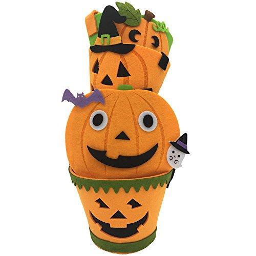 Fiouni Halloween Süßigkeitstasche Kürbis Eimer Halloween Candy Topf 4packs