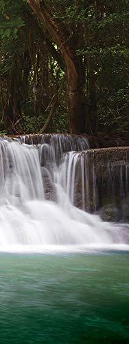 30 Lb-wand (Forwall Leinwandbild Canvas Landschaft Wasserfall - modern Wandbilder Bild Kunstdruck Wanddekoration NELB-LAM1025 30cm x 80cm Natur Fluss Hochformat)